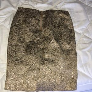 The Limited Skirts - The Limited Gold Jacquard Print Skirt